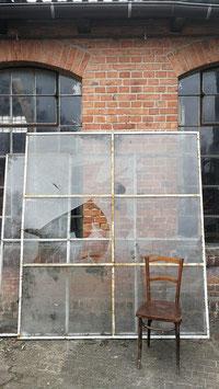 alte Eisenfenster Fabrikfenster 191 x 215 cm Nr 1403