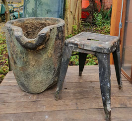 Alter Mörser großes Steingefäß Nr 1610