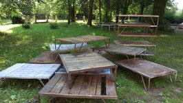 alte Stapelpaletten - super Couchtische Coffeetables