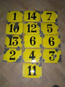 alte Emaille Nummernschilder Hausnummer VINTAGE pur