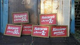 alte Schilder aus Holz vom Jahrmarkt Preisschilder Tafel Nr 1010