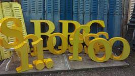 flippige große Buchstaben und Zahlen Kunststoff gelb 2101