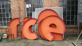 Riesige Buchstaben orange Nr 1403
