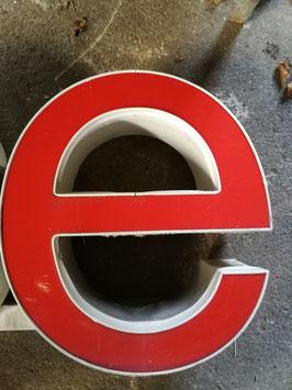Vintage Leuchtbuchstaben r s oder e in knallrot!!! 38 cm hoch Nr 0801-02