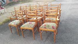 antike Holzstühle mit Armlehnen NR 1809-02 natur