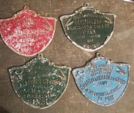 alte große Plaketten für Kühen Bullenrennen Nr 3009