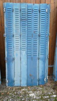1 Paar alter Fensterläden aus Metall bleu Nr 0805-03