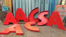 alte Vintage Buchstaben rot 85 cm Nr. 0711rest