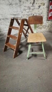 alte Vintage Leiter Tritt Klappleiter 1201