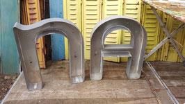 große alte Buchstaben Blech ohne Abdeckung 59 cm 1405rest