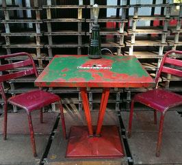 original alter Tolix Tisch Bistrotisch restauriert