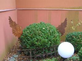 1 Paar Eisen Flügel Gartendekoration