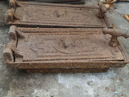 alte Ofentür Ofenklappe gusseisen Nr 1203-13