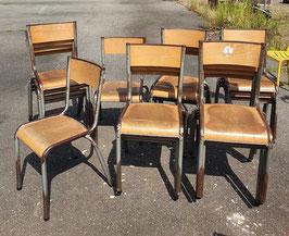 alte Bauhaus Schulstühle Stapelstühle Stühle VINTAGE Mullca 2607