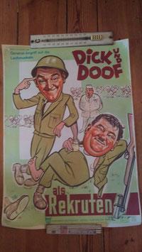 altes Kinoposter Dick und Doof als Rekruten GI 2811