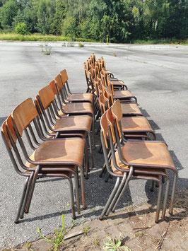alte Bauhaus Schulstühle Stapelstühle Stühle VINTAGE Mullca 2607-02