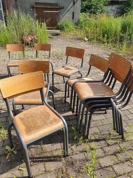 alte Bauhaus Schulstühle Stapelstühle Stühle Kinderstühle VINTAGE Mullca 2607-03