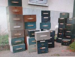 alte Sortierkästen Pappe Schubladen
