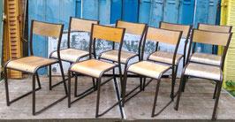 8 alte Bauhaus Schulstühle Stühle VINTAGE Stapelstühle Stacking Chairs 1907