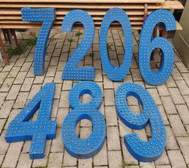 Große Blechzahlen Nummern 0109-02 blau
