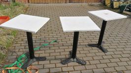 Bistrotische mit Marmorplatte weiß Nr 0904