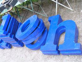 große alter Buchstaben 54-74 cm blau1rest