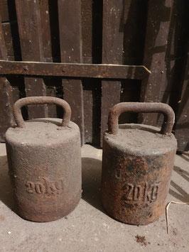 alte Gewichte Hanteln 20 kg Türstopper Nr 1203Gi