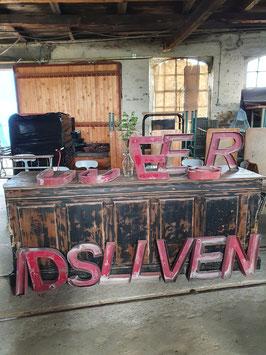 alte Buchstaben aus Zinkblech rot 38 cm nr 0405