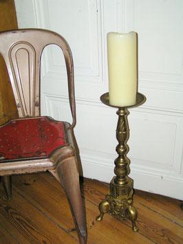 antiker Messing Standleuchter Kerzenleuchter Gründerzeit GI-0412