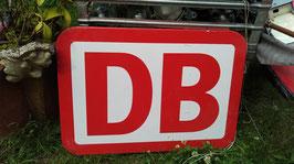 Schild von der Bahn DB