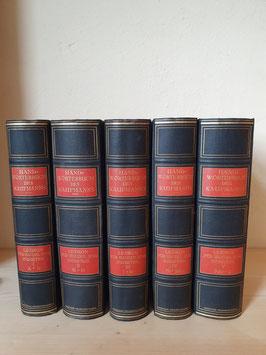 alte Bücher Handwörterbuch des Kaufmanns 5er Band