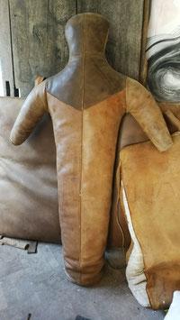 Vintage Leder Ringerpuppe Boxpuppe Boxsack