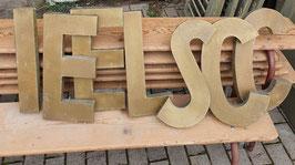 alte Vintage Buchstaben goldfarbend 0409-02