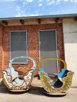 Antike Holzgondeln von einem alten Karussel - TRAUM!!! Nr 2008