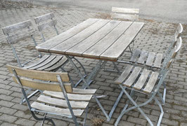 Set alter Biergartenmöbel Nr 1103