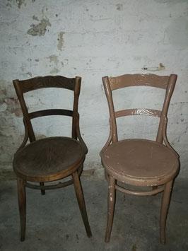 1 Paar Dekostühle von Kohne Bugholzstühle Nr 2401
