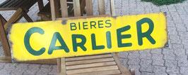 alte Emaille Schild Werbeschild Bieres Carlier