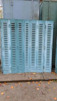 1 Paar Metall Fensterläden 7-teilig für Terrassentüren 1605-03
