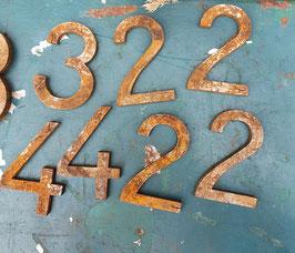 alte Eisenzahlen Zahlen Nummern Hausnummern 7 cm Nr 1309-02