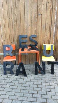 alte Buchstaben Blech 40 cm Nr 0506