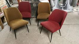 4er Set alte Sessel 50er Jahre Vintage Nr 0810