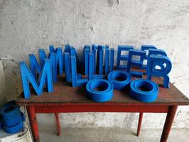 alte Vintage Buchstaben, blau 2310bl