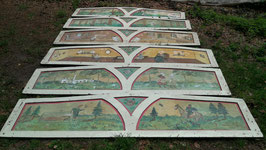antike Bilder von einem Karussell signiert 0806