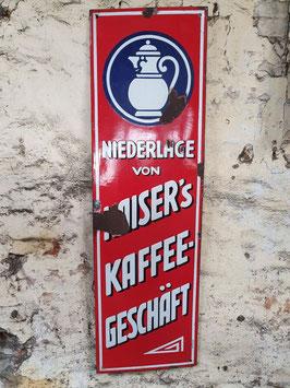 altes Emaille Schild Kaiser's Kaffee