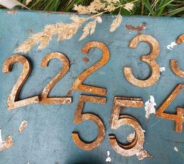 alte Eisenzahlen Zahlen Nummern Hausnummern 8 cm Nr 1309-03