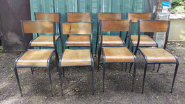 10 edle alte Mullca Stühle Stapelstühle stacking chairs 809