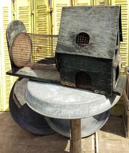 großer, antiker Hamsterkäfig mit Laufrad Nr 0601