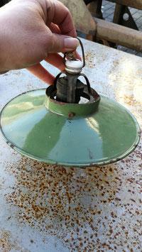 sehr kleine Emaillelampe Schirm emailiert NR 1511