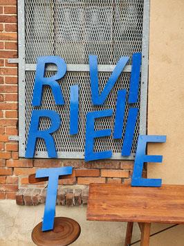 alte Buchstaben Metall blau Nr 2707-01