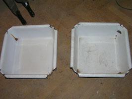 1 Paar alte Emaille Waschbecken Schüsseln aus England um 1900 Nr 1203